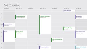 Windows 8:n päivitetty kalenterisovellus