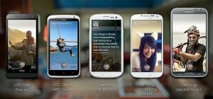 Facebookin tilaisuudessaan esittelemät ensimmäiset Facebook Home -yhteensopivat älypuhelimet