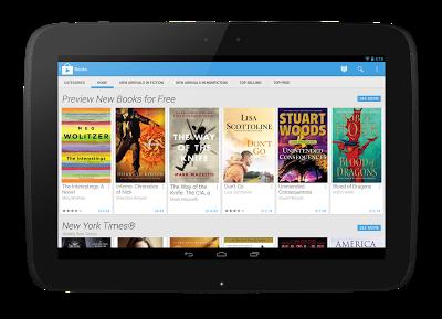 Uudistunut Google Play Nexus 10:ssä