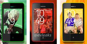 Nokian Asha kertaa kolme @evleaksin julkaisemassa kuvassa