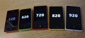 Nokia Lumia 520, 620, 720, 820 ja 920