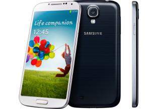 Samsung Galaxy S4 edestä, takaa ja sivulta