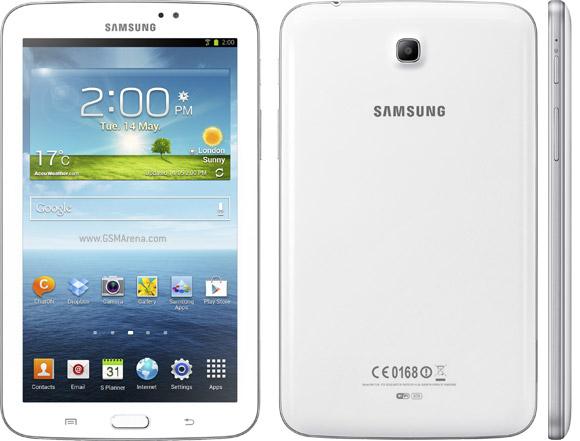 Samsung Galaxy Tab 3 7.0 edestä, takaa ja sivulta