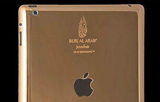 Gold & Co.:n kultaama iPad.
