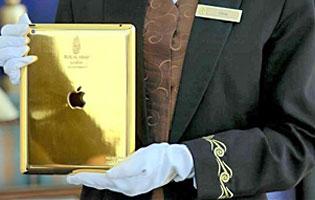 Hotellivieraille mukaan annettava iPad Burj Al Arab -hotellissa.