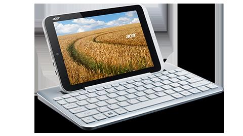 Acer Iconia W3 ja näppäimistölisäosa