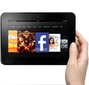Seitsentuumainen Amazonin Kindle Fire HD