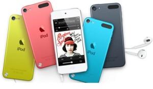 Applen viidennen sukupolven iPod touch eri väreissä