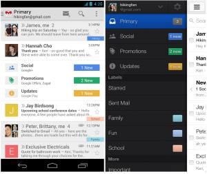 Uudistunut Gmail tabeilla Androidilla ja iOS:llä