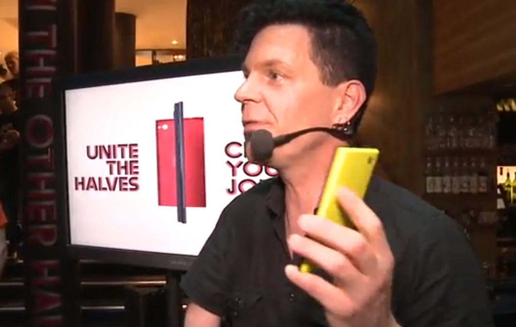 Jollan tilaisuudessa Marc Dillon esitteli puhelimen vaihdettavia toisia puoliskoja