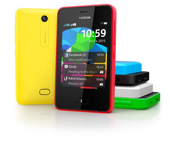 Nokia Asha 501 eri väreissä