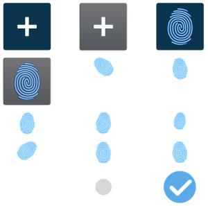 Samsungin ohjelmistosta paljastuneita sormenjälkilukijaan viittaavia kuvia