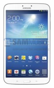 Samsung Galaxy Tab 3 8.0 SamMobilen julkaisemassa kuvassa