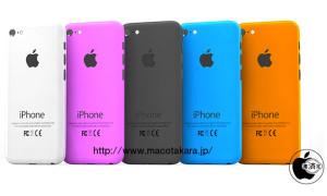 Macotakaran luomassa kuvassa Applen edullisempaan iPhoneen odotetut värivaihtoehdot