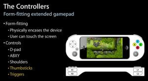 Applen WWDC:ssä esittelemä iPhoneen liitettään peliohjaimen konsepti