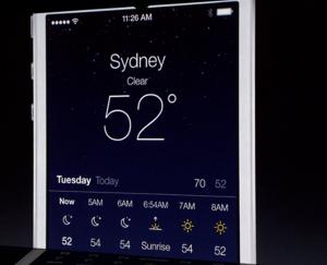 Uuden iOS 7:n Sää-sovellus