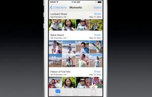 Uuden iOS 7:n Kuvat-sovellukset Moments-hetkinäkymä