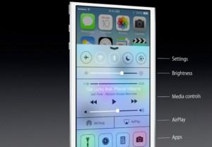 Uuden iOS 7:n uusi Control Center -näkymä