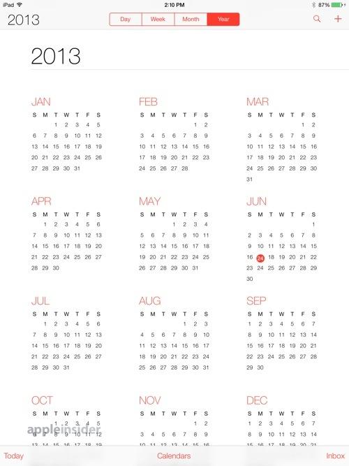 Applen Kalenteri iPadissa.