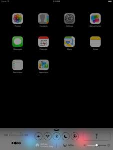 Apple iOS 7 iPadissa: Control Center -hallintakeskus