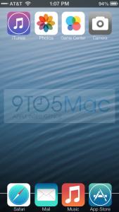 9to5Macin luoma esimerkkikuva Applen iOS 7:n odotettavasta ulkoasu-uudistuksesta