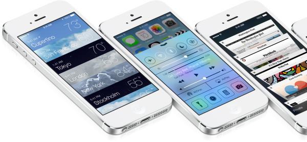 Apple iOS 7: Sää, Hallintakeskus, Safarin välilehdet