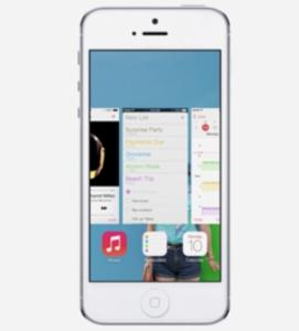 iOS 7:n uusi moniajonäkymä