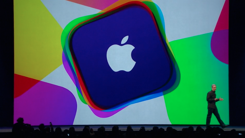Applen logo WWDC-lavalla