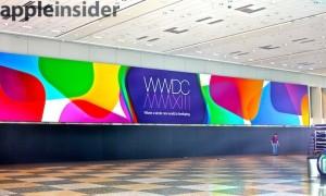 AppleInsiderin julkaisema kuva Applen WWDC-bannerista