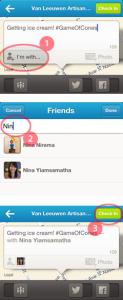 Foursquare ja kaverikirjautuminen