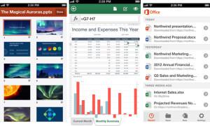 Kuvankaappauksia Microsoftin Office Mobilesta iPhonelle