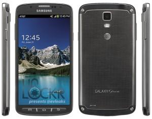 Samsung Galaxy S4 Active @evleaksin julkaisemassa kuvassa