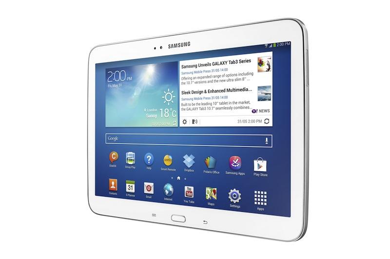 Samsung Galaxy Tab 3 10,1 tuuman näytöllä