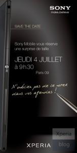 Sonyn kutsu tilaisuuteen 4. heinäkuuta