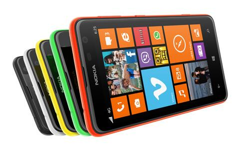 Aiempi Nokia Lumia 625, jota Lumia 1320:n huhutaan nyt muistuttavan ominaisuuksiltaan