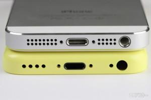 Yllä iPhone 5, alempana väitetty uusi edullisemi iPhone