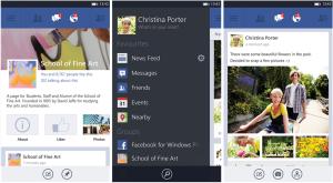 Kuvankaappauksia Facebookin 5.0-versiosta