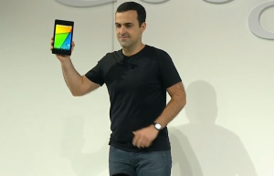 Googlen nyt jättävä Hugo Barra esitteli Nexus 7 -uutuuden Googlen tilaisuudessa
