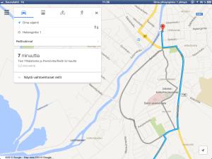 Kuvankaappaus Google Mapsista iPadille