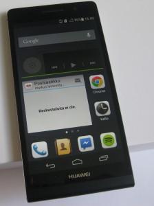 Huawei Ascend P6 ja yksi kotinäkymä.