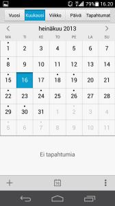 Tältä näyttää Ascend P6:n kalenterisovellus
