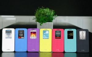 LG G2:lle suunniteltu QuickWindow-suojakuori eri väreissä