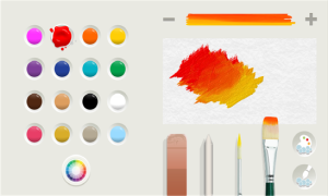 Kuvankaappaus Microsoftin Fresh Paintin värivalinnasta