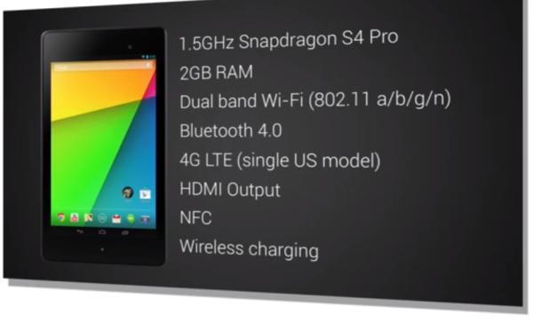 Nexus 7:n speksit