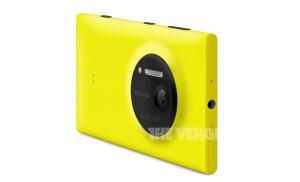 Nokia Lumia 1020 keltaisena The Vergen julkaisemassa lehdistökuvassa