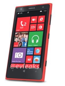 Nokia Lumia 1020 punaisena @evleaksin kuvassa