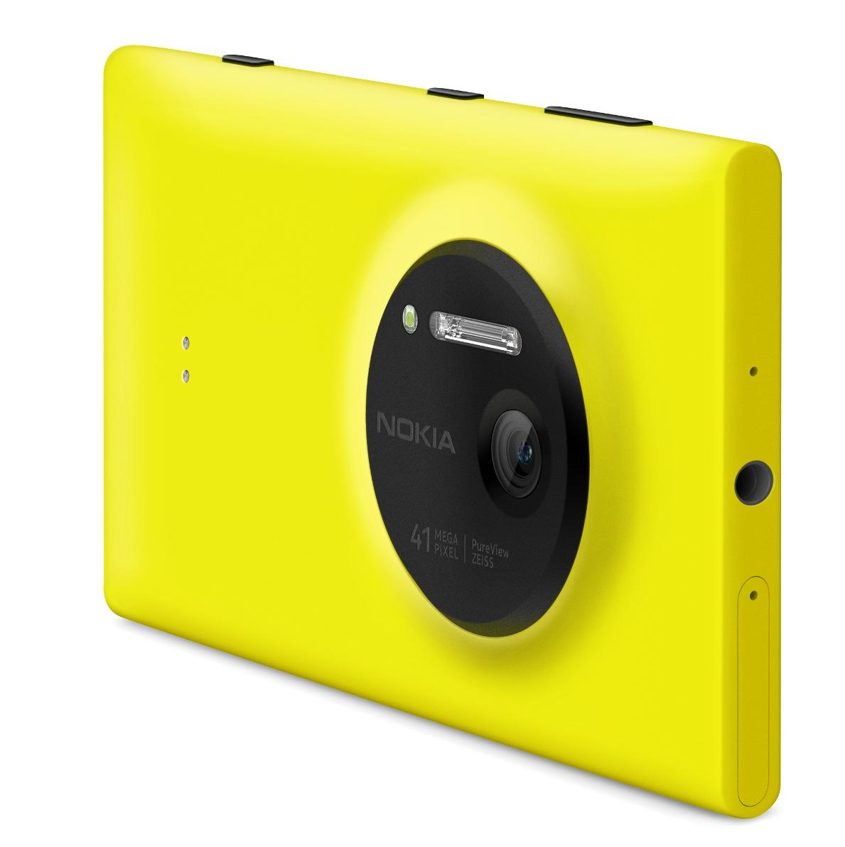Nokia Lumia 1020 keltaisena takaa