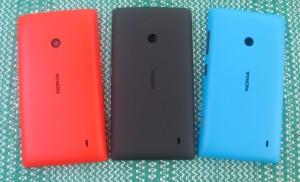 Nokia Lumia 520:n eri värisiä vaihtokuoria