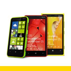 Nokian Lumia-mallistoa: Lumia 620, Lumia 820 ja Lumia 920