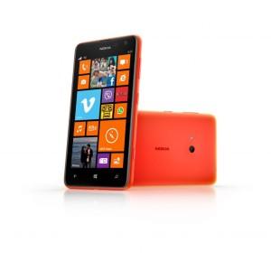 Nokia Lumia 625 oranssina